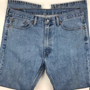 Levi's 505 Straight Leg Jeans Old School Cotton 38